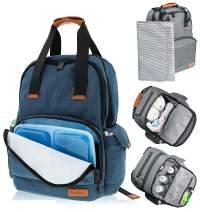 Simple Being Baby Diaper Bag Backpack, Multi-Function Travel Bags (Blue)