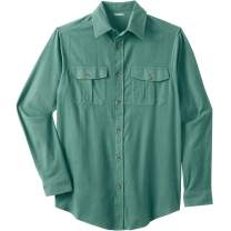 KingSize Men's Big & Tall Solid Double-Brushed Flannel Shirt