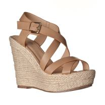 Riverberry Women's Sara Faux Leather Sandal Wedges