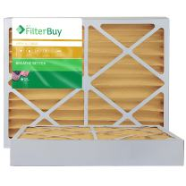 """FilterBuy 20x25x4 MERV 11 Pleated AC Furnace Air Filter, (Pack of 2 Filters), Actual size 19 3/8"""" x 24 3/8"""" x 3 5/8"""", 20x25x4 – Gold"""