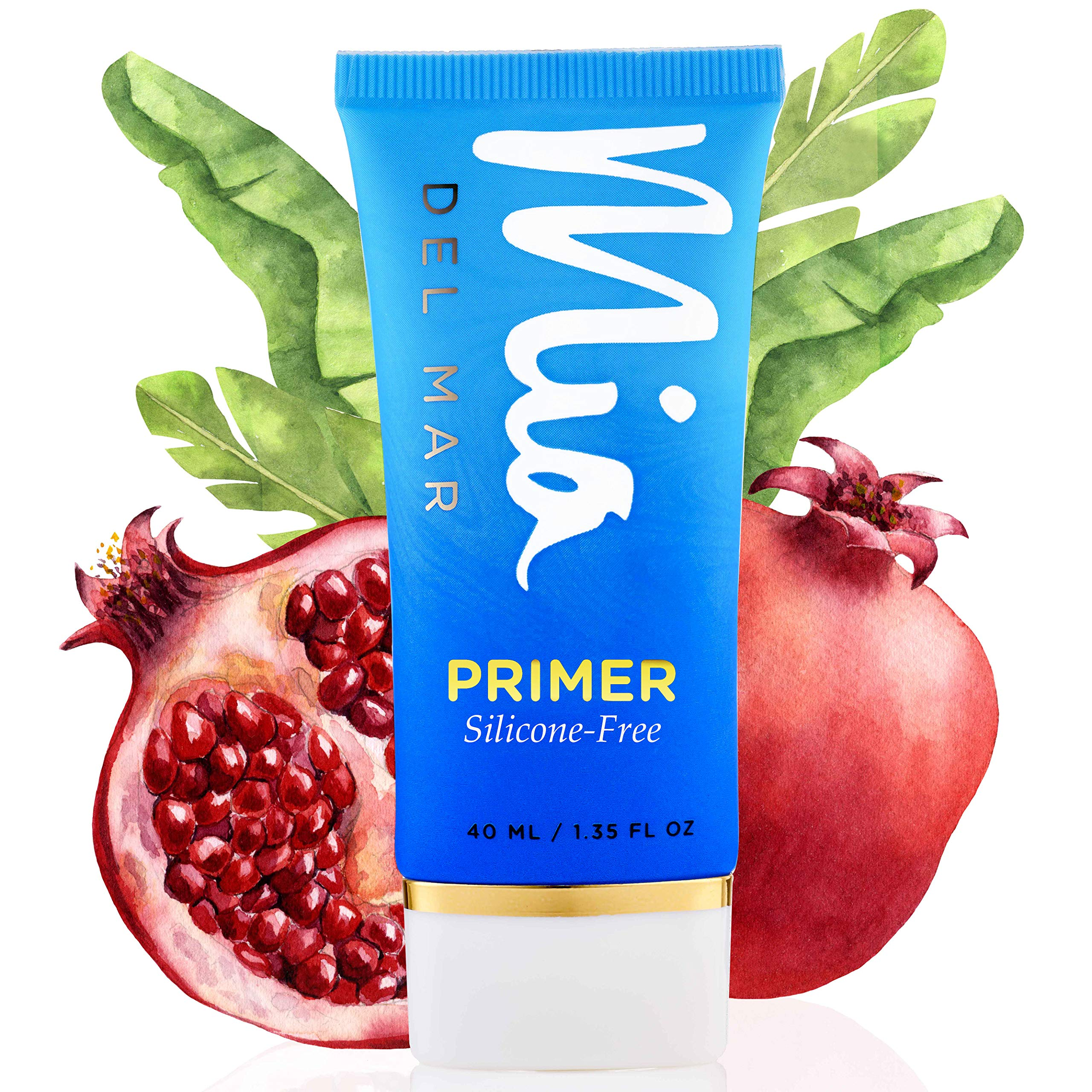 Silicone-Free Makeup Primer With Coconut Oil, Vitamin E, And Tapioca Starch. Improves Skin Texture & Appearance of Pores. Flawless Makeup Application. Vegan And Clean Skin Care.