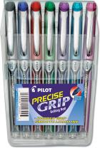 PILOT Precise Grip Liquid Ink Rolling Ball Stick Pens, Extra Fine Point, Assorted Color Inks, 7-Pack Pouch (28864)
