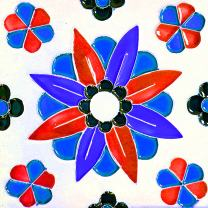 Mi Alma Backsplash Peel and Stick Tile Stickers 24 PC Set Authentic Tile Decals Bathroom & Kitchen Vinyl Wall Decals Easy to Apply Just Peel & Stick Home Decor (4x4 Inch, Retro Flower V24)