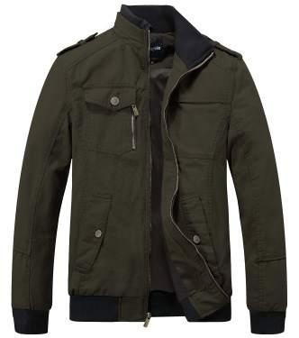 Wantdo Boys Classic Casual Jacket Faux Leather Jacket Hooded Windbreaker Coat Cotton Padded Jackets