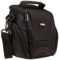 AmazonBasics Fixed Zoom Or Compact System Camera Case Bag - 7 x 3.5 x 6 Inches, Black And Grey