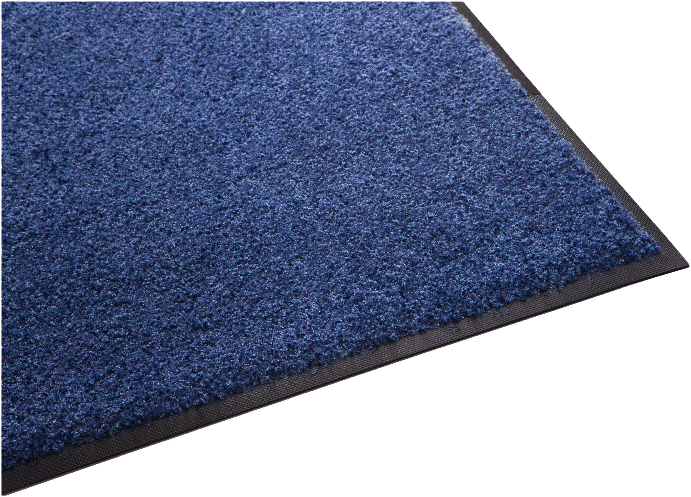 Guardian Platinum Series Indoor Wiper Floor Mat, Rubber with Nylon Carpet, 6'x7', Blue