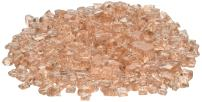 American Fireglass 10-Pound Fire Glass with Fireplace Glass and Fire Pit Glass, 1/4-Inch, Champagne