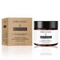 Organic & Botanic Vegan Mandarin Orange Enhancing Hydrating Day Face Moisturizer 50ml For Dry and Sensitive Skin. Premium Vegan Skincare For All Skin Types. Made In The UK.