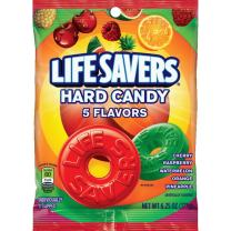 LIFE SAVERS 5 Flavors Hard Candy Bag, 6.25 ounce (Pack of 12)
