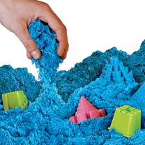 NATIONAL GEOGRAPHIC Play Sand - 12 LBS of Sand with Castle Molds (Blue) - A Kinetic Sensory Activity