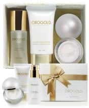 OROGOLD 24K Luxury Sample Box for Women - Travel Skin Care Set with Real Gold - Package Contains Facial Toner, Night Cream and Body Butter