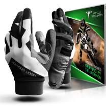 POISON SCORPION Motorcycle Motocross Dirt Bike Gloves for Men Women | Black XL