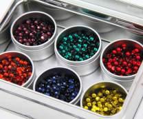 Threadart Hot Fix Crystal Rhinestone Set - Rainbow Colors - SS10 - Includes 6 Colors - 1440 (10 Gross) Stones Each Color - 8640 Total Stones - Hotfix