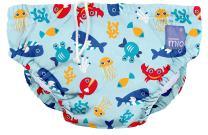 Bambino Mio, Reusable Swim Diaper, Small (0-6 Months), Deep Sea Blue