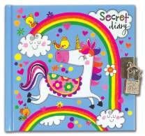 Jewelkeeper Rachel Ellen Designs Girls Rainbow Unicorn Secret Diary, Lock and Keys Included, Private Journal