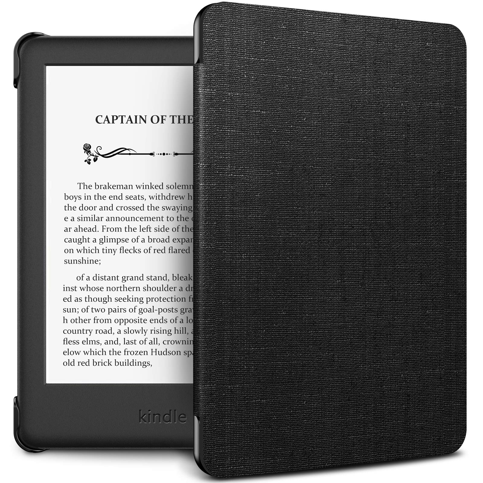 INFILAND Kindle 10th Gen 2019 Case, Shell Case Cover Auto Wake/Sleep Compatible with All-New Kindle 10th Generation 2019 Release Only, Black
