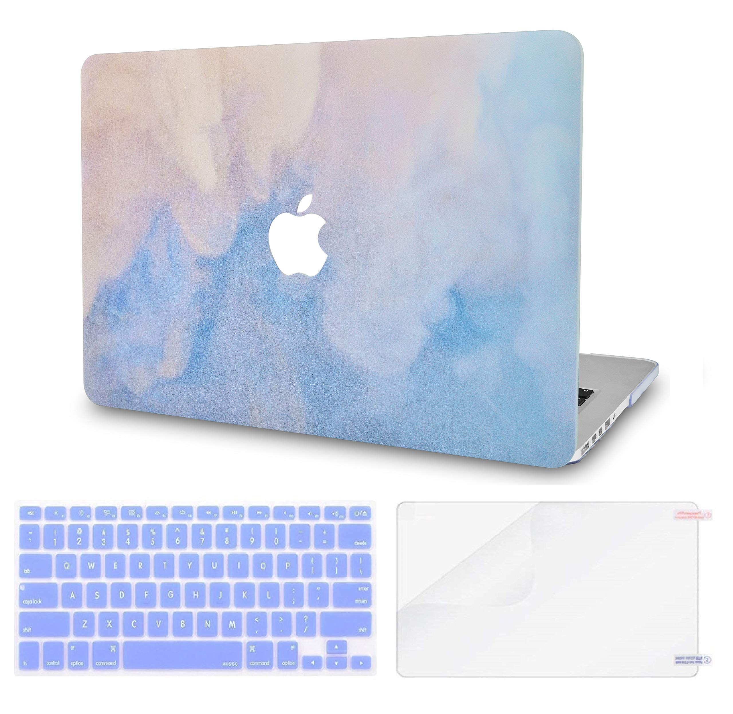 LuvCase 3 in 1 LaptopCase forMacBookAir 13 Inch A1466 / A1369 (No Touch ID)(2010-2017) HardShellCover, Keyboard Cover & Screen Protector(Blue Mist)