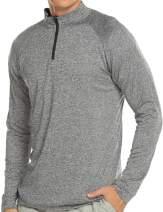 JINIDU Men's Long Sleeve Active 1/4 Zip T Shirt Quick Dry Sports Tops Cycling Jersey Running Training Gym Pullover