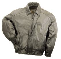 REED Men's American Style Bomber Genuine Leather Jacket
