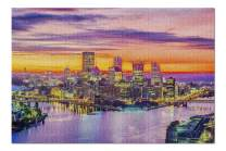 Pennsylvania - Pittsburgh City Skyline at Dusk 9030352 (Premium 1000 Piece Jigsaw Puzzle for Adults, 19x27, Made in USA!)