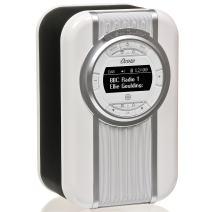 VQ Christie HD Digital Radio with FM, Bluetooth/NFC, Alarm Clock, Rotating Display & Enamel Fascia – Black