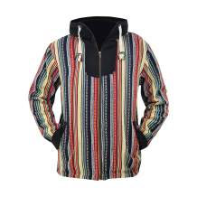 virblatt Baja Jacket Ethnic Clothing and Rasta Zip up Hoodie for Men S M L XL