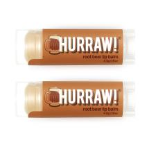 Hurraw Root Beer Lip Balm, 2 Pack – Organic, Certified Vegan, Cruelty and Gluten Free. Non-GMO, 100% Natural Ingredients. Bee, Shea, Soy and Palm Free. Made in USA