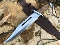 Perkin | 16 Inches Fixed Blade Hunting Knife | Bowie Knife | Leather Sheath