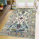 Super Area Rugs Updated Traditional Vintage Area Rug, 8' X 10' Colorful Ivory Carpet