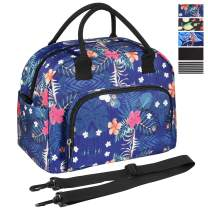 ORASANT Lunch Bag, Large& Durable Insulated Water-resistant Cooler& Thermal Lunch Bag for Women, Fashionable Lunch Box with Detachable Shoulder Strap for Work, School, Beach, Picnic, Floral