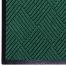 WaterHog Diamond   Commercial-Grade Entrance Mat with Rubber Border – Indoor/Outdoor, Quick Drying, Stain Resistant Door Mat (Evergreen, 4' x 10')