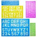 Mr. Pen- Alphabet Templates, Alphabet Stencils, Pack of 5, Letter Stencils, Template Letters, Stencils Letters and Numbers, Art Stencils, Drawing Tools, Drafting Supplies, Tracing Letters and Numbers