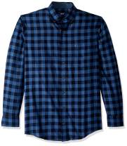 IZOD Men's Big and Tall Stratton Long Sleeve Button Down Check Flannel Shirt