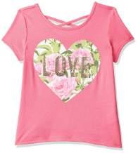 The Children's Place Baby Girls Short Sleeve Cross Back Novelty Tee