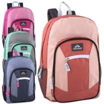 24 Pack of Wholesale Trailmaker 19 Inch Multi Pocket Backpacks in Bulk for Boys, Girls, Men, Women