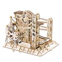 Rowood 3D Wooden Marble Run Puzzle Craft Toy, Gift for Adults & Teen Boys Girls, Age 14+, DIY Model Building Kits - Lift Coaster