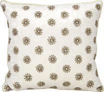 "Nourison Mina Victory Mina Victory A0073 Ivory Decorative Pillow, 16"" X 16"""