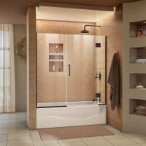 DreamLine Unidoor-X 58-58 1/2 in. W x 58 in. H Frameless Hinged Tub Door in Oil Rubbed Bronze, D58580-06