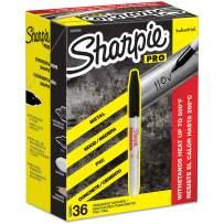 Sharpie Industrial Permanent Markers, Fine Tip, Black, 36 Count