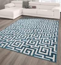 Casamode City Collection Area Rug, 5' x 7', Blue Greek