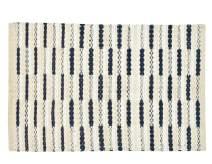 GLAMBURG Cotton Rug 2' x 3' Machine Washable, Farmhouse Vintage Reversible Rag Rug 24x36, Entryway Floor Mat Rug for Kitchen Carpet Bathroom Outdoor Porch Laundry Living Room, Navy Natural