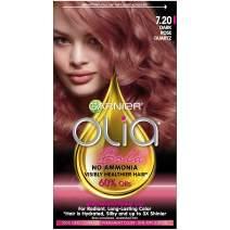Garnier Olia Bold Ammonia Free Permanent Hair Color (Packaging May Vary), 7.20 Dark Rose Quartz, Rose Hair Dye, 1 Kit, Pack of 1