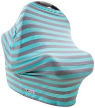 Carseat Canopy Cover   Stretch Jersey Fabric Doubles as a Convenient Breastfeeding or Shopping Cart Cover   Car Seat Canopy Accessories are a Perfect Baby Shower Gift for Baby Girls and Boys!