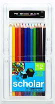 Prismacolor 92804 Scholar Colored Pencils, 12-Count,Assorted