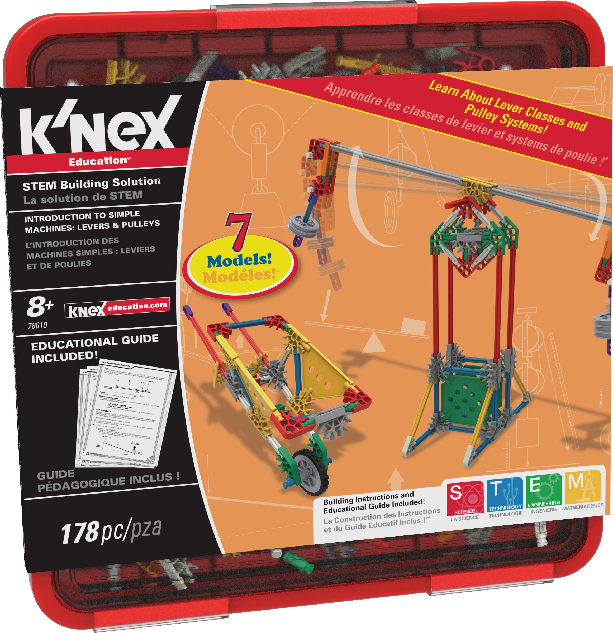 K'NEX Education - Intro to Simple Machines: Levers and Pulleys Set – 178 Pieces – For Grades 3-5 – Construction Education Toy