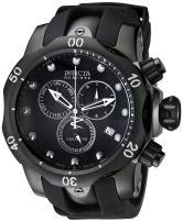 Invicta Men's 6051 Venom Reserve Black Stainless Steel Watch with Polyurethane Band