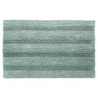 Shaggy Chenille Bath Mat, Soft and Absorbent Non Slip Bathroom Rug, Plush Carpet Mats for Bathtub and Shower, Machine Washable, 20 x 32 Inch, Aqua