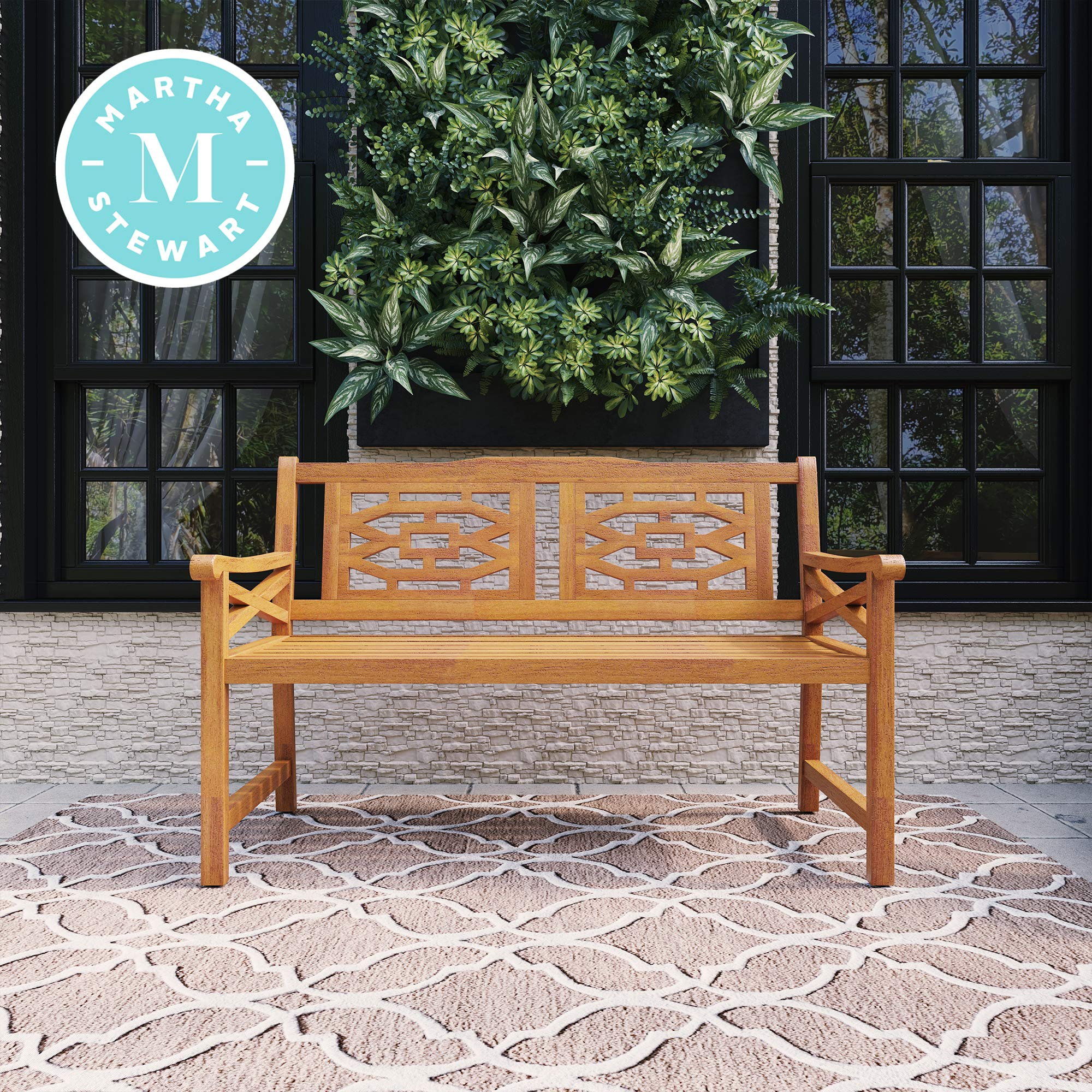 Martha Stewart Beeches 54 Bench, with Natural Wood Look Finish