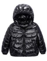 IKALI Boy Girl Packable Down Jackets, Spring Hood Coat, Lightweight Outerwear (2-12Y)