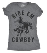 Womens Ride Em Cowboy Cowgirl Rodeo T Shirt Funny Saying Cute Graphic Tee